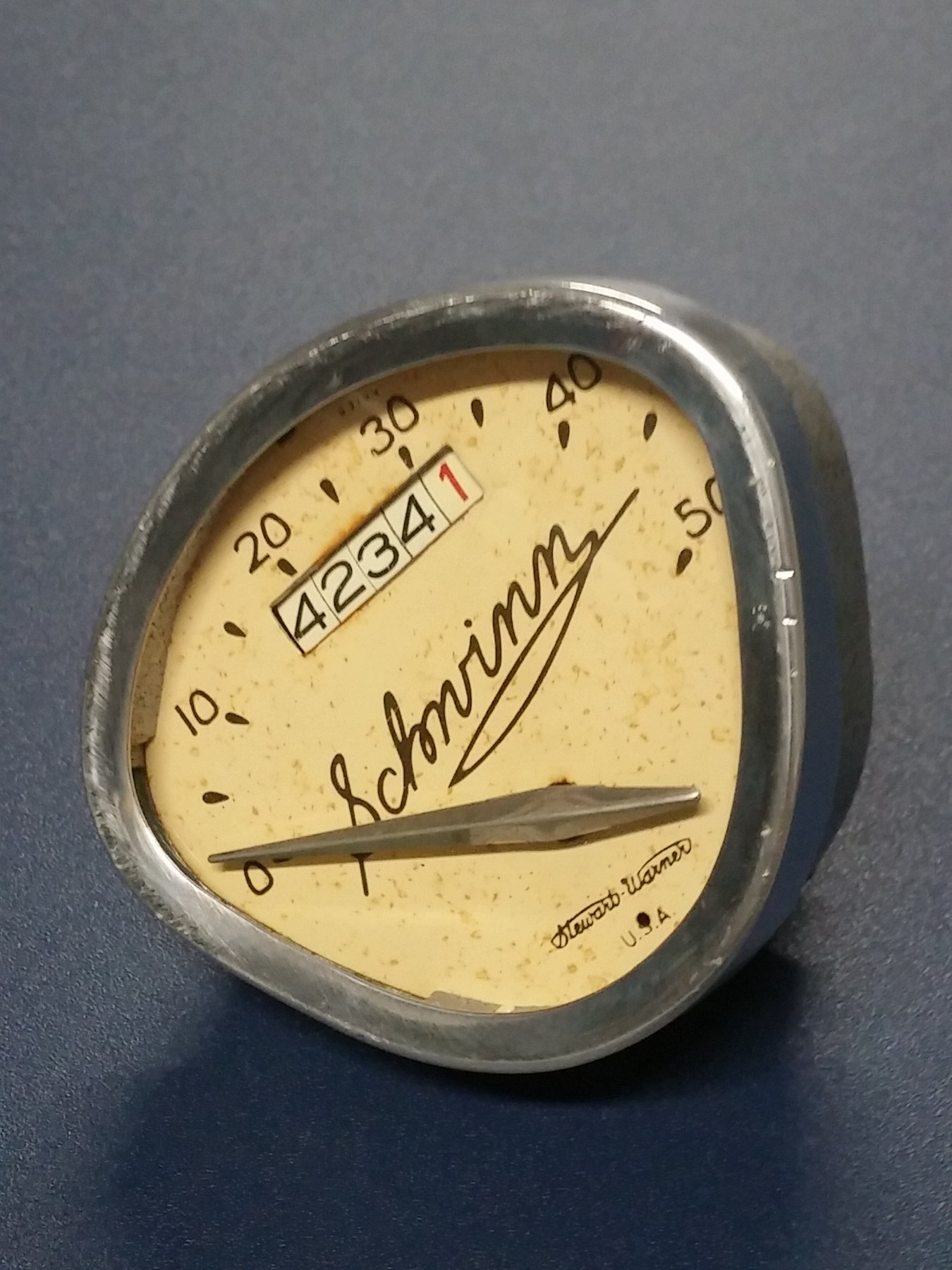 Prewar Schwinn Autocycle Speedometer The Classic And Antique