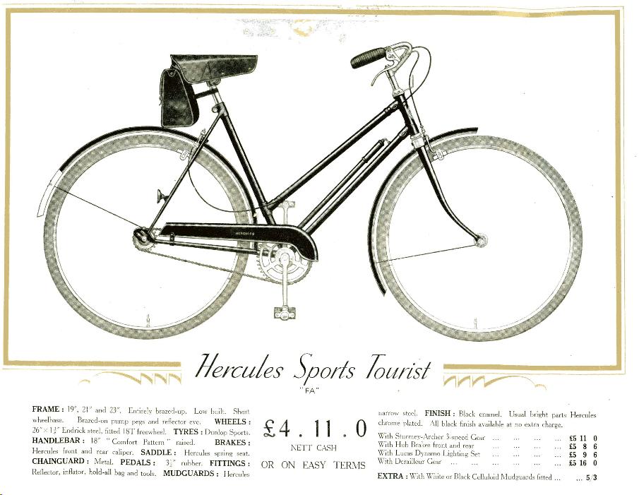 Vintage HERCULES logo frame stickers set for Bicycle Bike