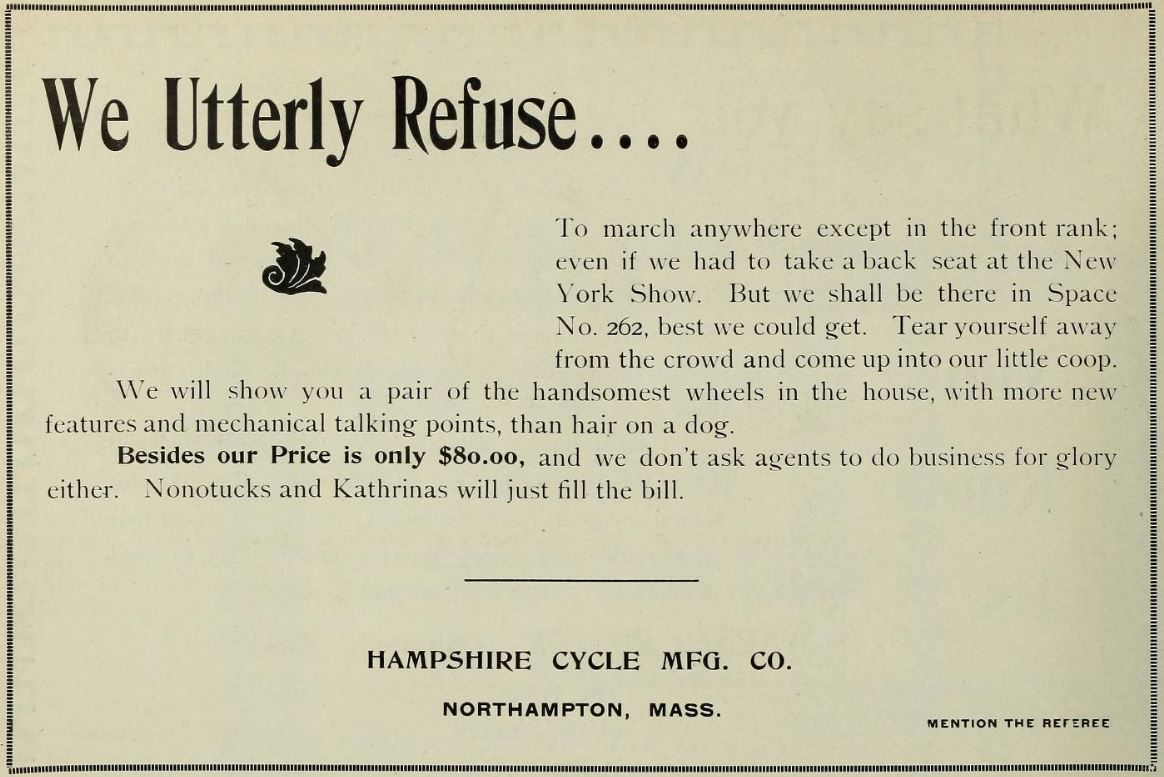 1896.01.09 - Referee and Cycle Trade Journal - Hampshire Ad.JPG
