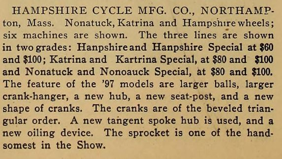 1897.02.12 - The Wheel and Cycling Trade Review - Hampshire at NYC Show.JPG