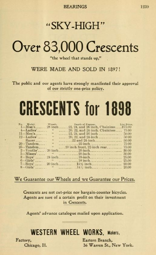 1897.11.18 - Bearings - Crescent Ad 83000 sold in 1897.JPG