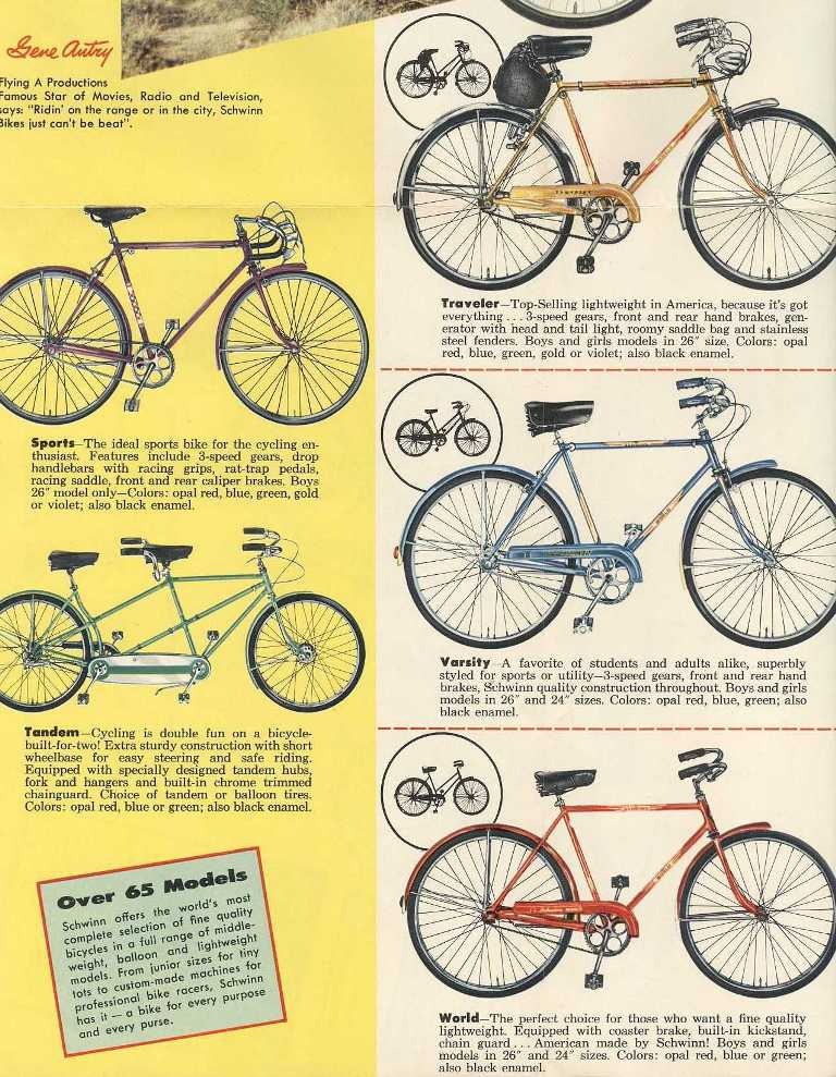 d3c4ad1f016 Catalog pic with the 1957 Traveler in Gold. Note the decals on your  pictured bike are different. Possible repaint?