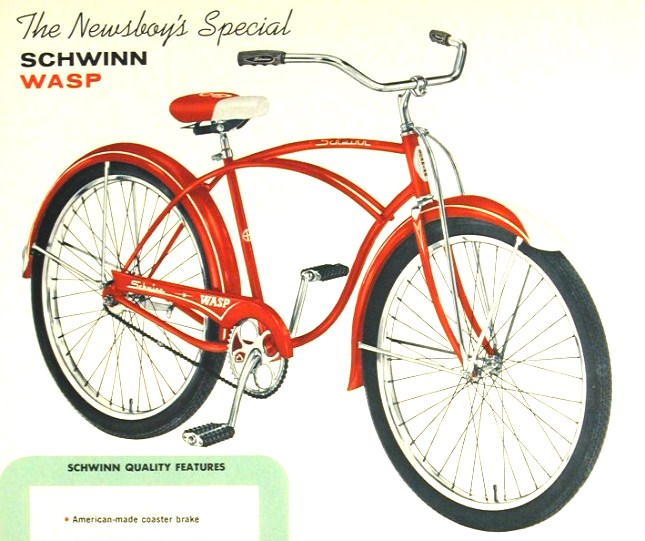 1964 Schwinn Wasp Newsboy\'s Special | The Classic and Antique ...