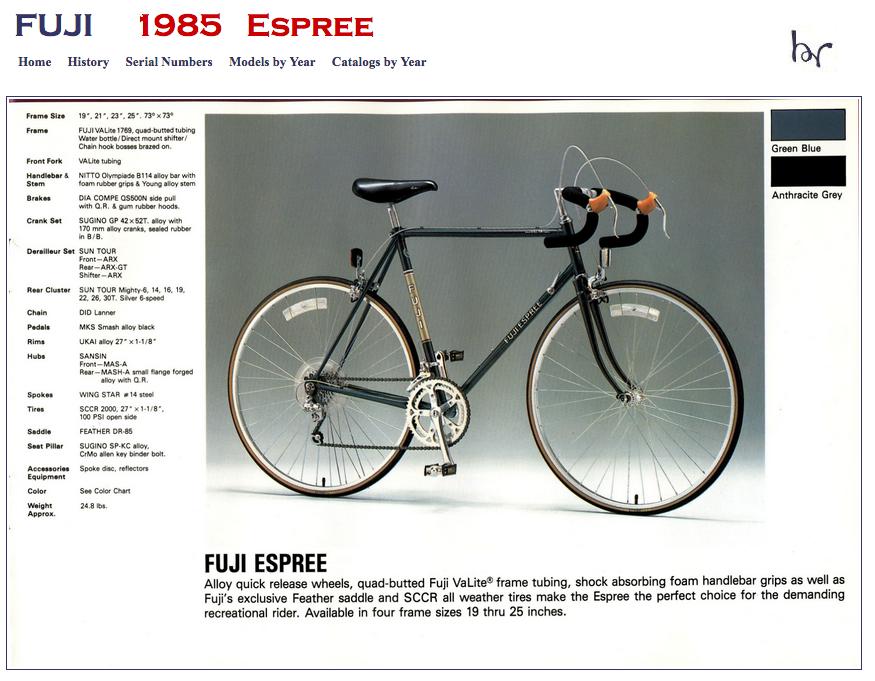 1985 Fuji Espree Catalog.png