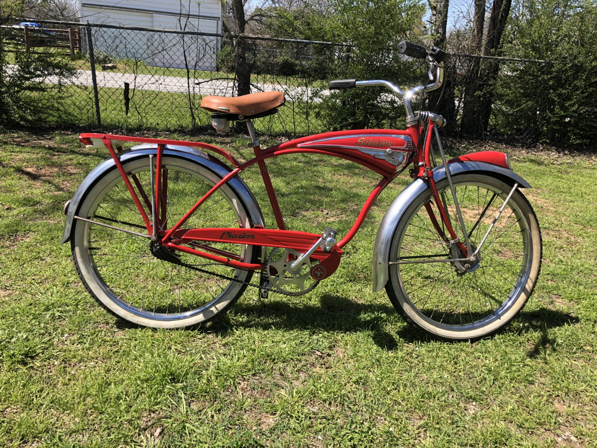 Sold 1950 Schwinn Red Phantom The Classic And Antique