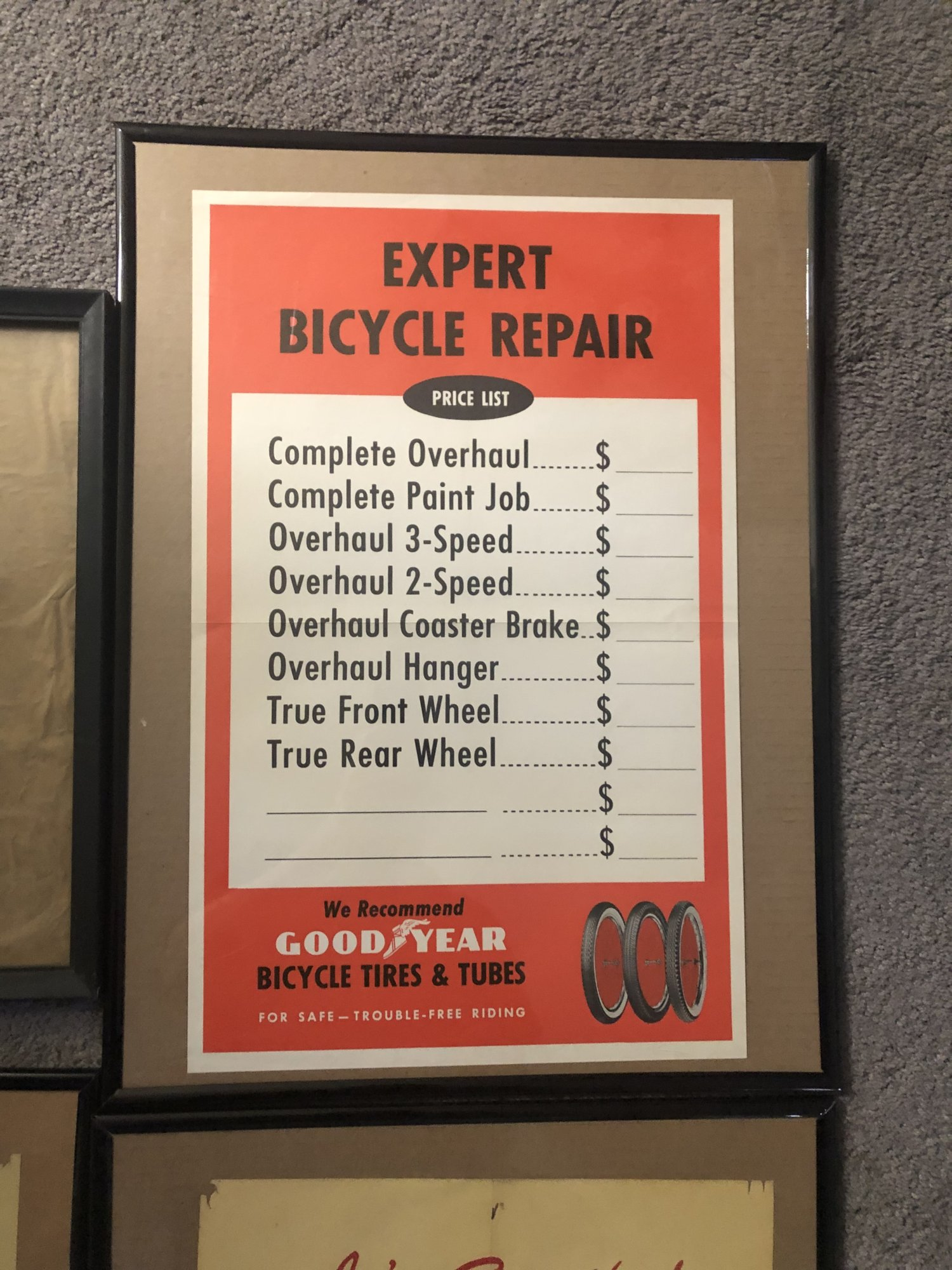 Goodyear Bicycle Repair chart! | The Classic and Antique