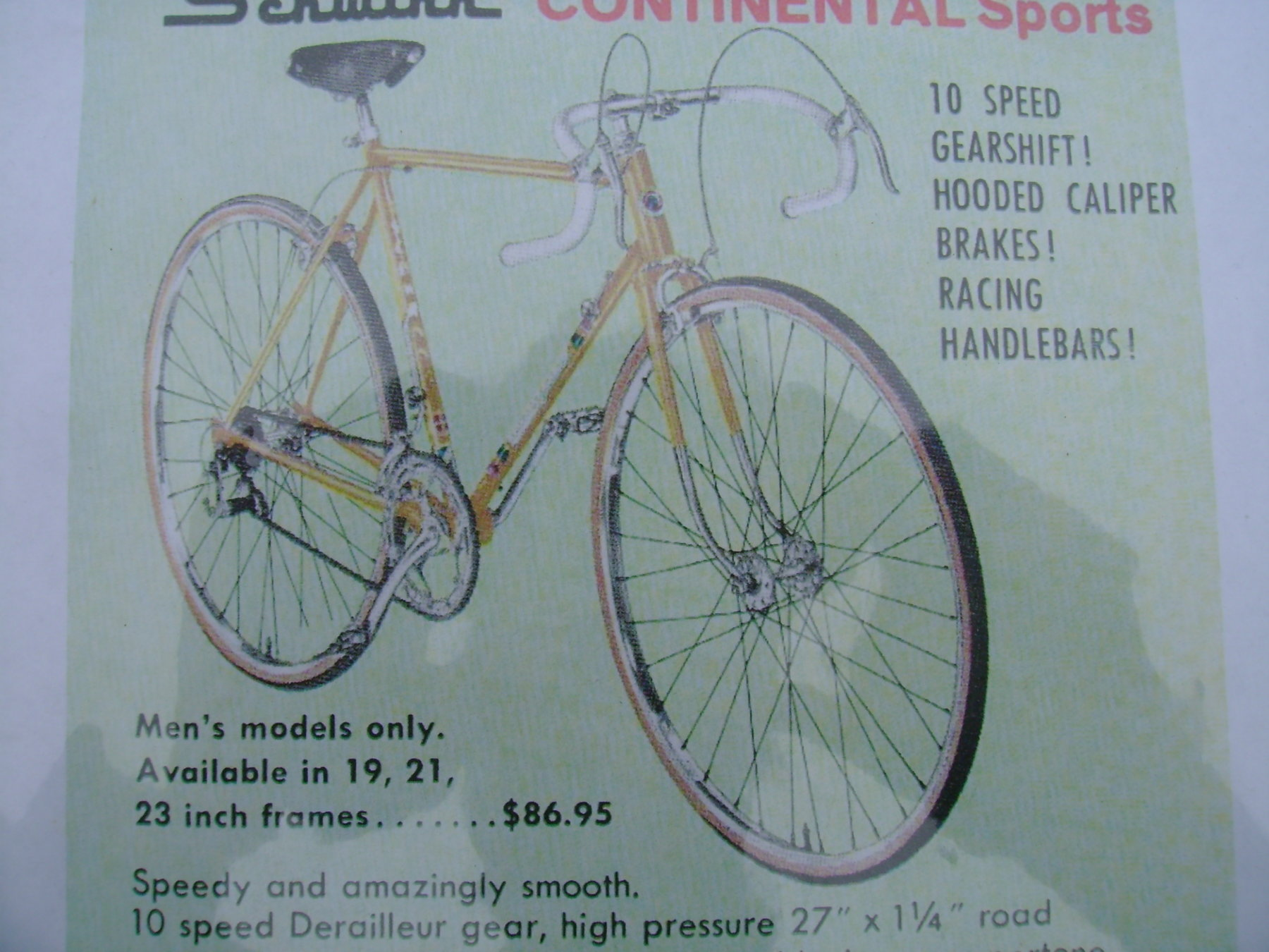 721827b2dd6 1960 Schwinn Continental Sport 10 speed road bike 23