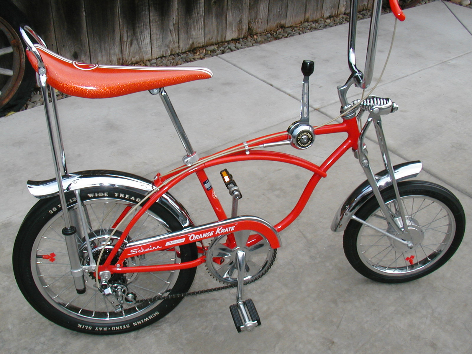 a2e7fc257b6 schwinn stingray orange krate 1973 Sunset Orange Krate | The Classic and  Antique Bicycle Exchange