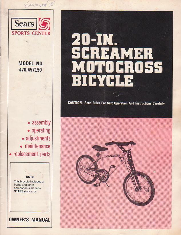 1978 sears screamer free spirit mx bike found restored the 78 screamer manualg sciox Gallery