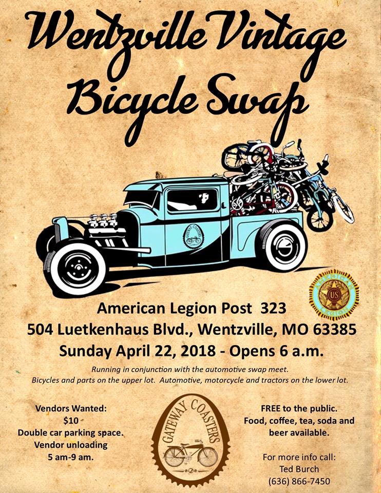 Vintage Bicycle swap Sunday April 22 Wentzville, Mo. | The Classic ...