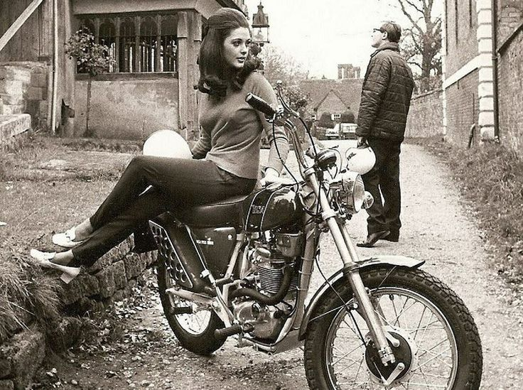Girl On An Old Motorcycle Post Your Pics