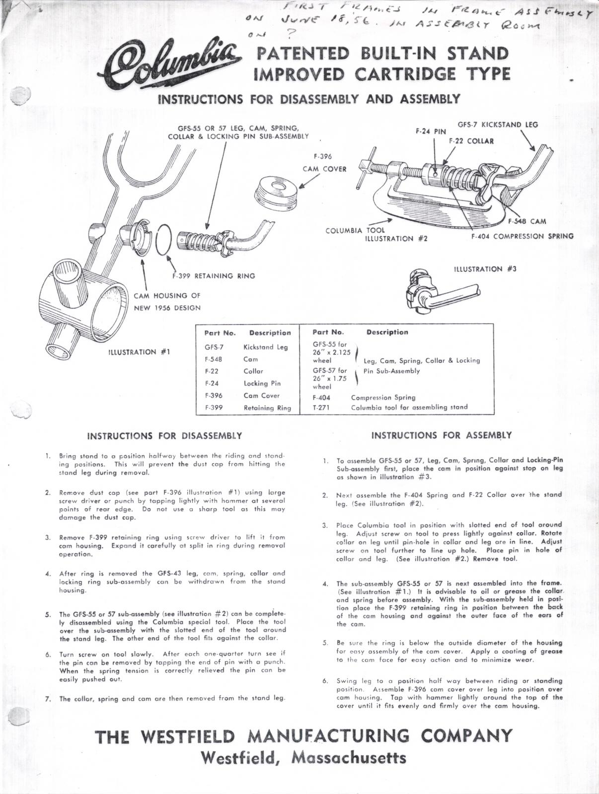 Built-In Stand Improved Cartridge Type Instructions for Assembly and Disassembly June 1956-67.jpg