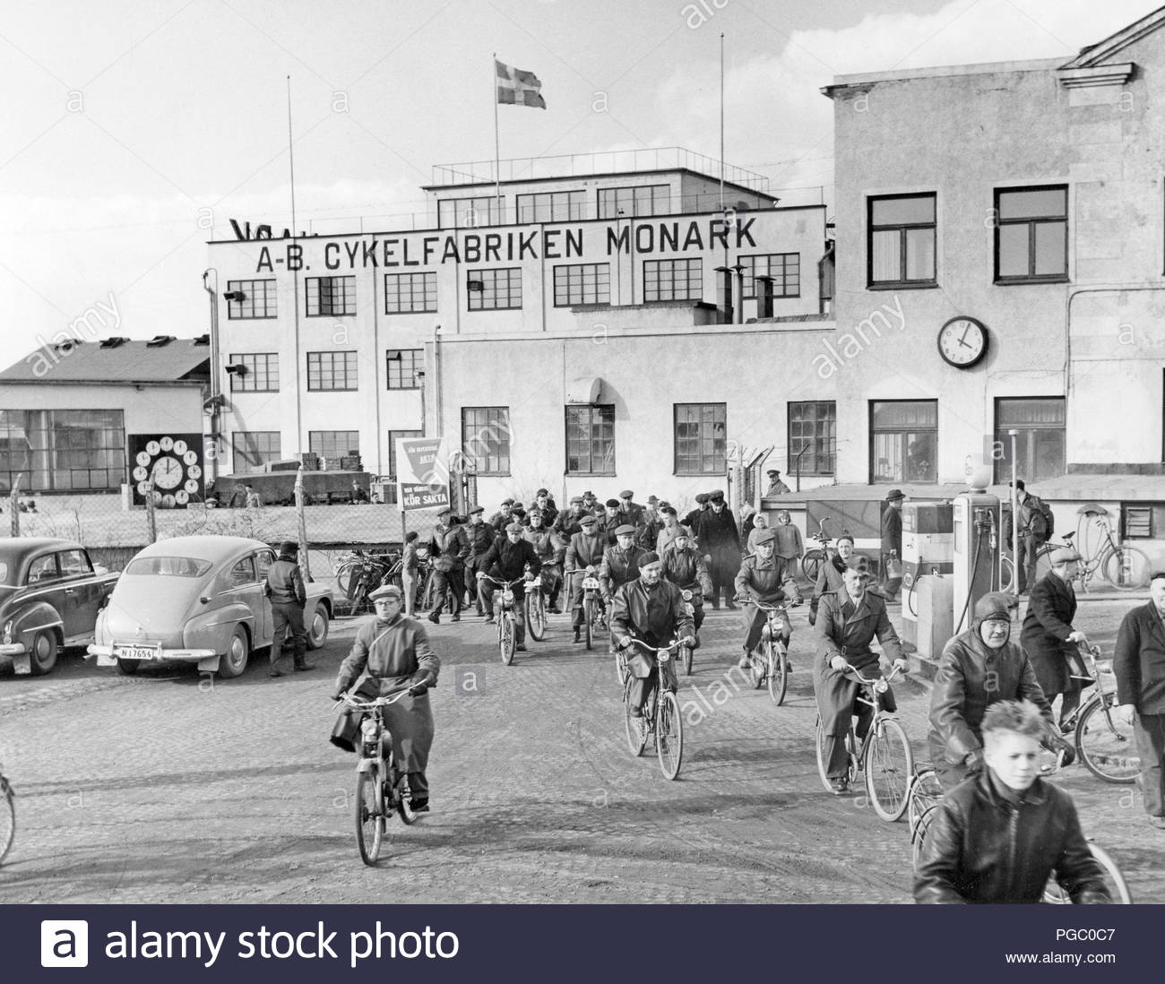 factory-in-the-1950s-work-is-over-for-the-day-at-the-bicycle-and-motorcycle-company-monark-in-...jpg