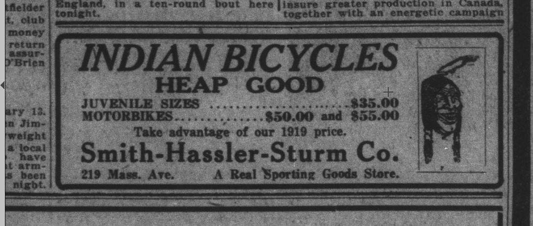 Feb 13 1920 Hassler Indian bicycle.JPG
