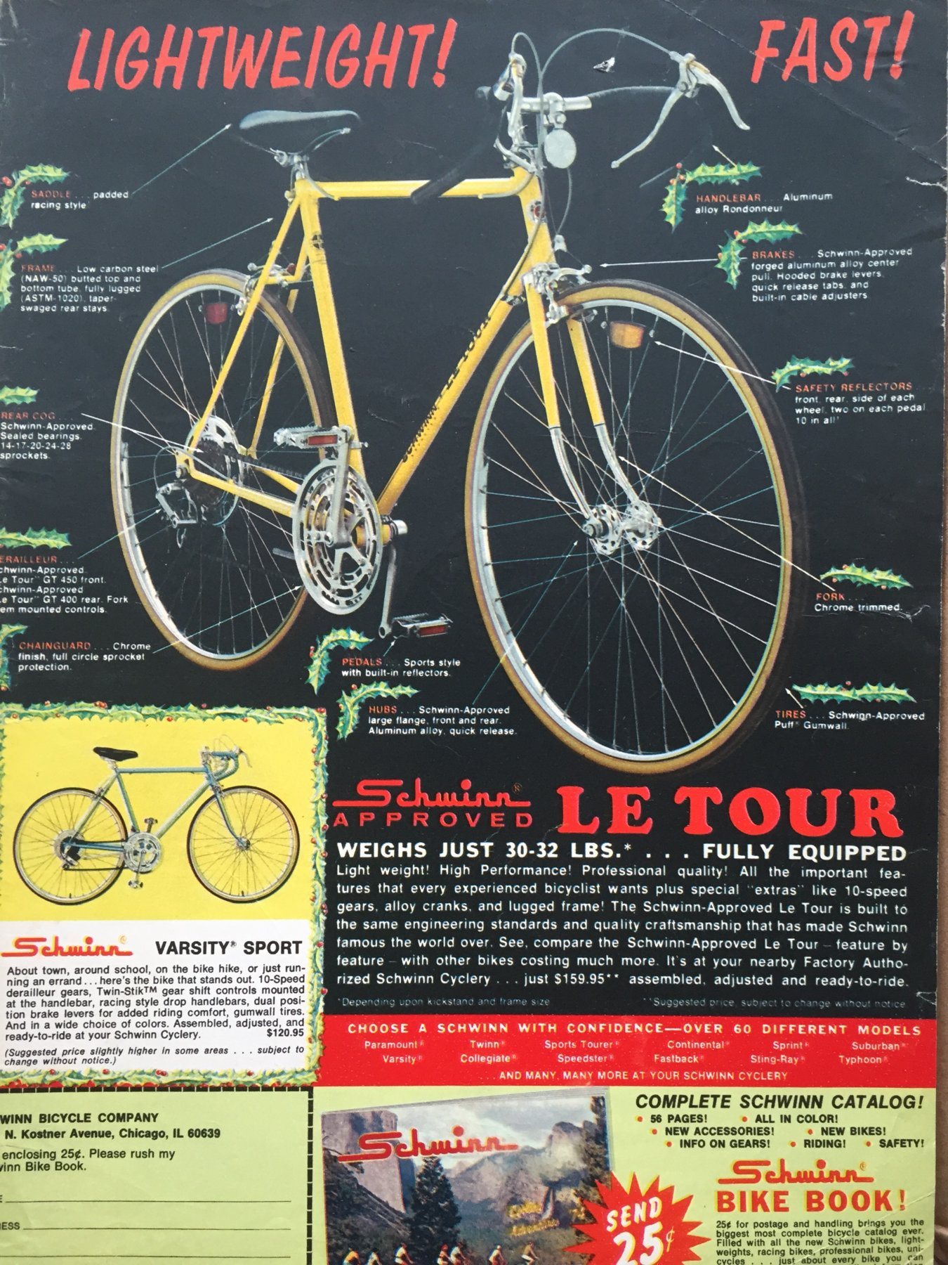 Lightweight Schwinn Ads | The Classic and Antique Bicycle