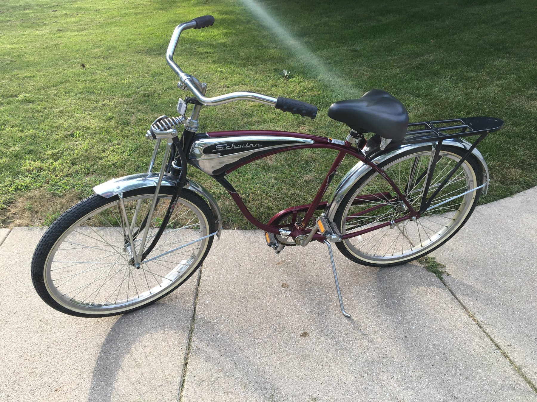 d22adc69b7f Anyone know the value of a 100th anniversary cruiser deluxe? Bike needs  cleaned up but every bit of it is 100% original. Bike was purchased and  ridden less ...