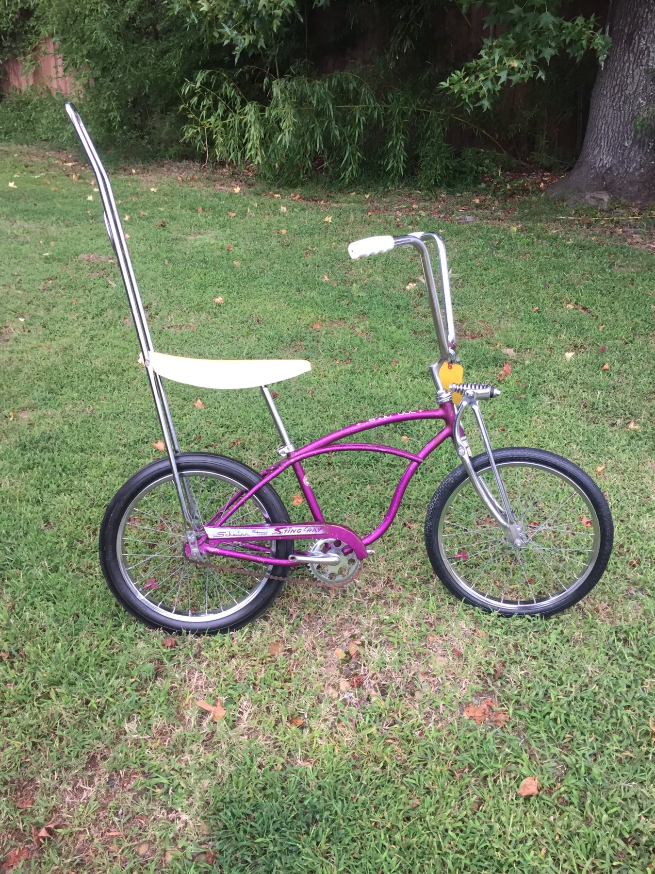 2adfe612920 pretty rare frame N4 in opal violet with schwinn super deluxe springer and  schwinn accessorie sissy bar rear slik dated 4th quarter of 1964