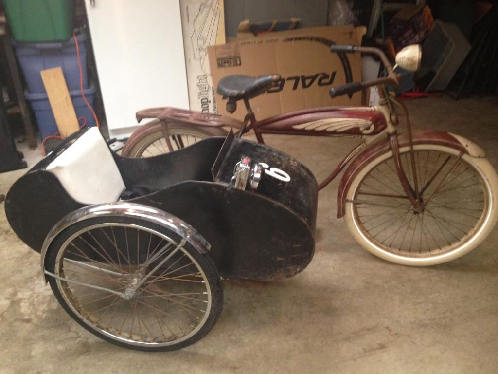 Bicycle Sidecar Hooked Up To My Trade In The Classic