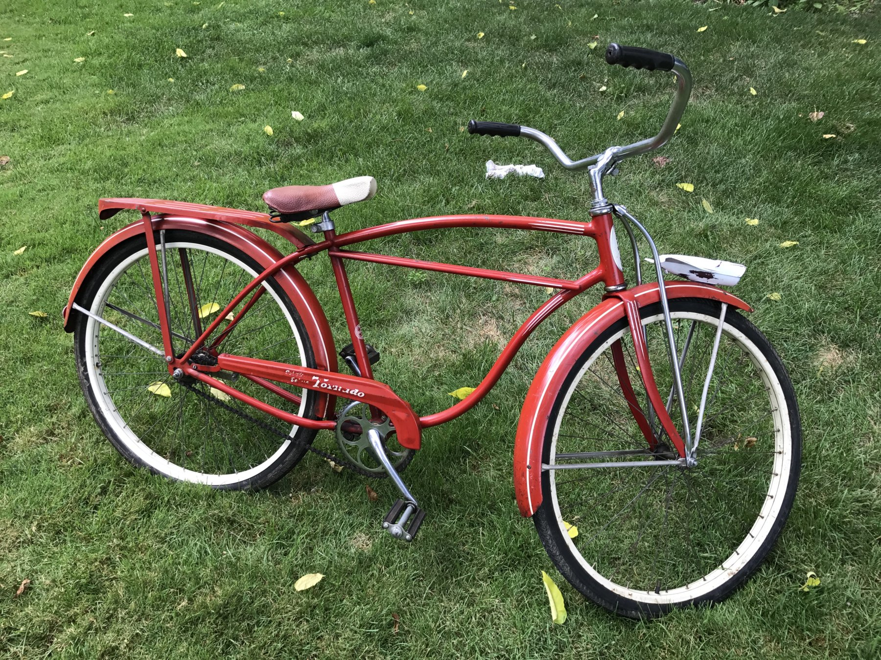 1cedeb0b53b Light works and has no rust, it's just painted and sanded to match bike  condition. Double straight bar. Offers considered.