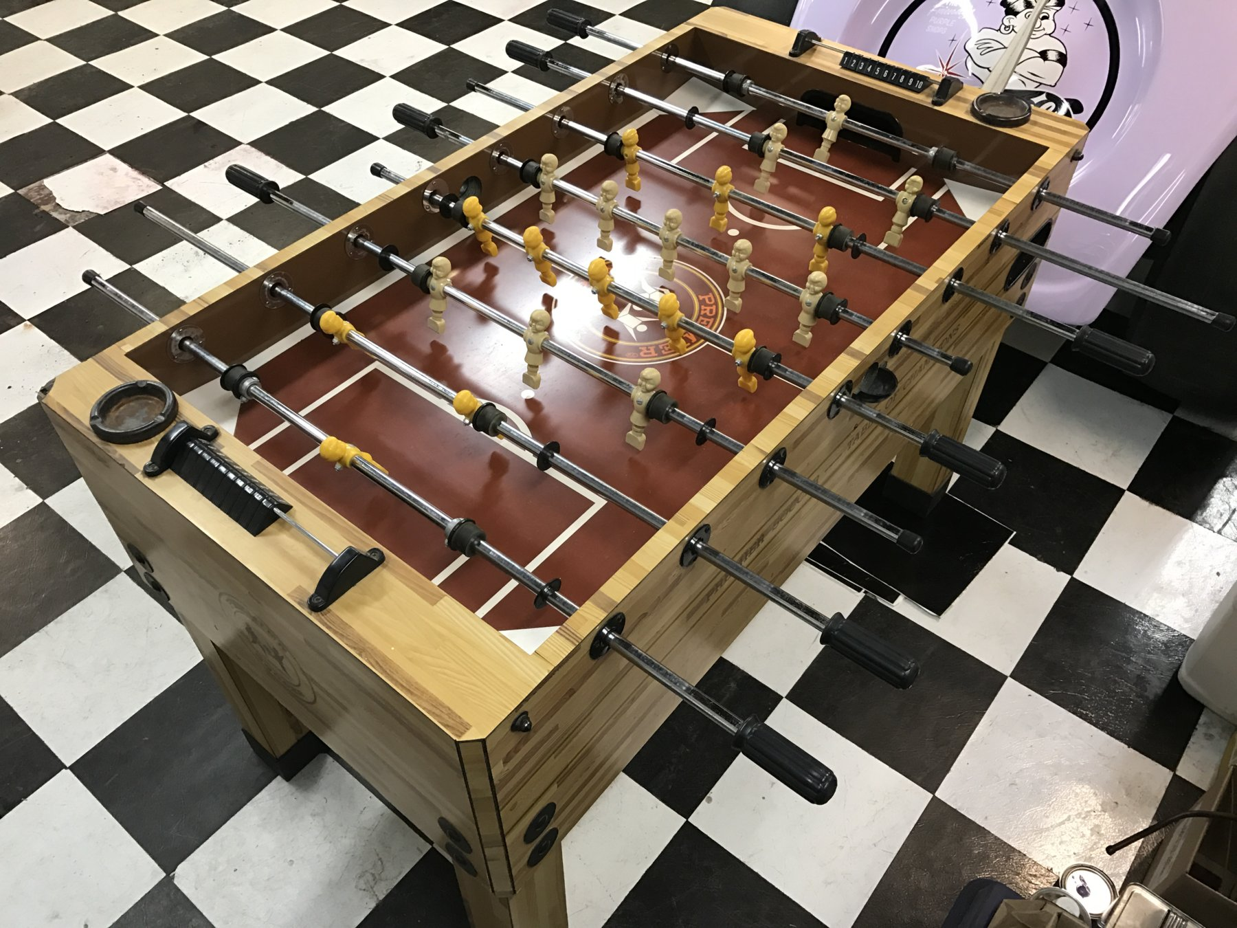 FOOSBALL Table Brown Top The Classic And Antique Bicycle Exchange - Tournament soccer foosball table