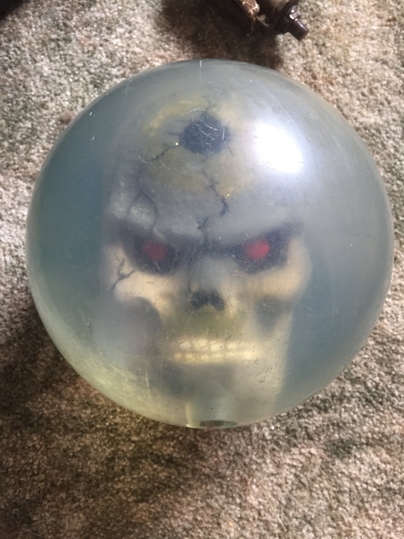 Sold Clear Bowling Ball With Skull Inside The Classic And