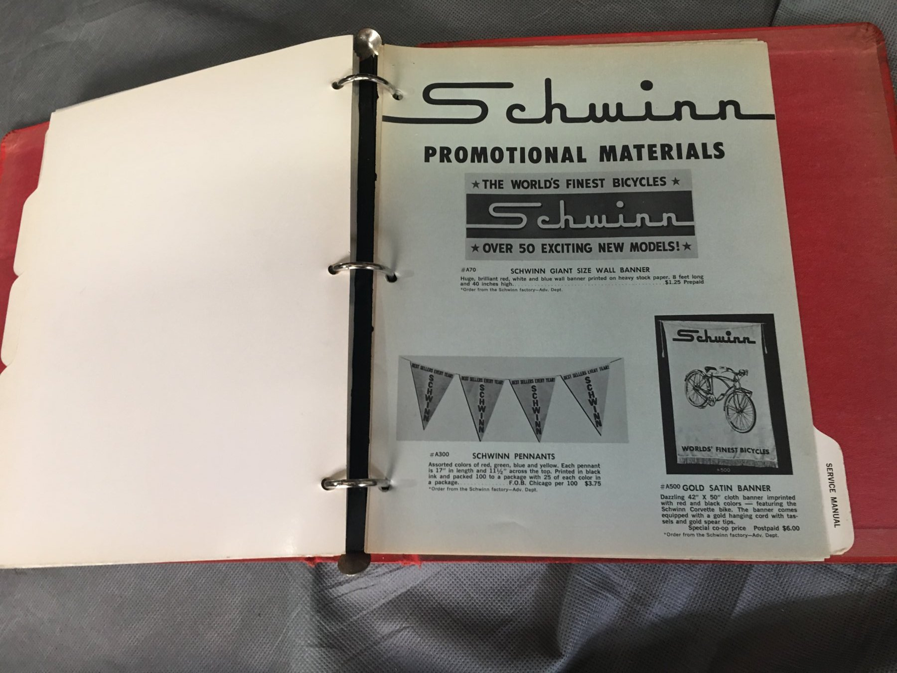 Sold 1964 Schwinn Hardcover Dealer Catalog The Classic And 50cc Wiring Diagram Img 7020