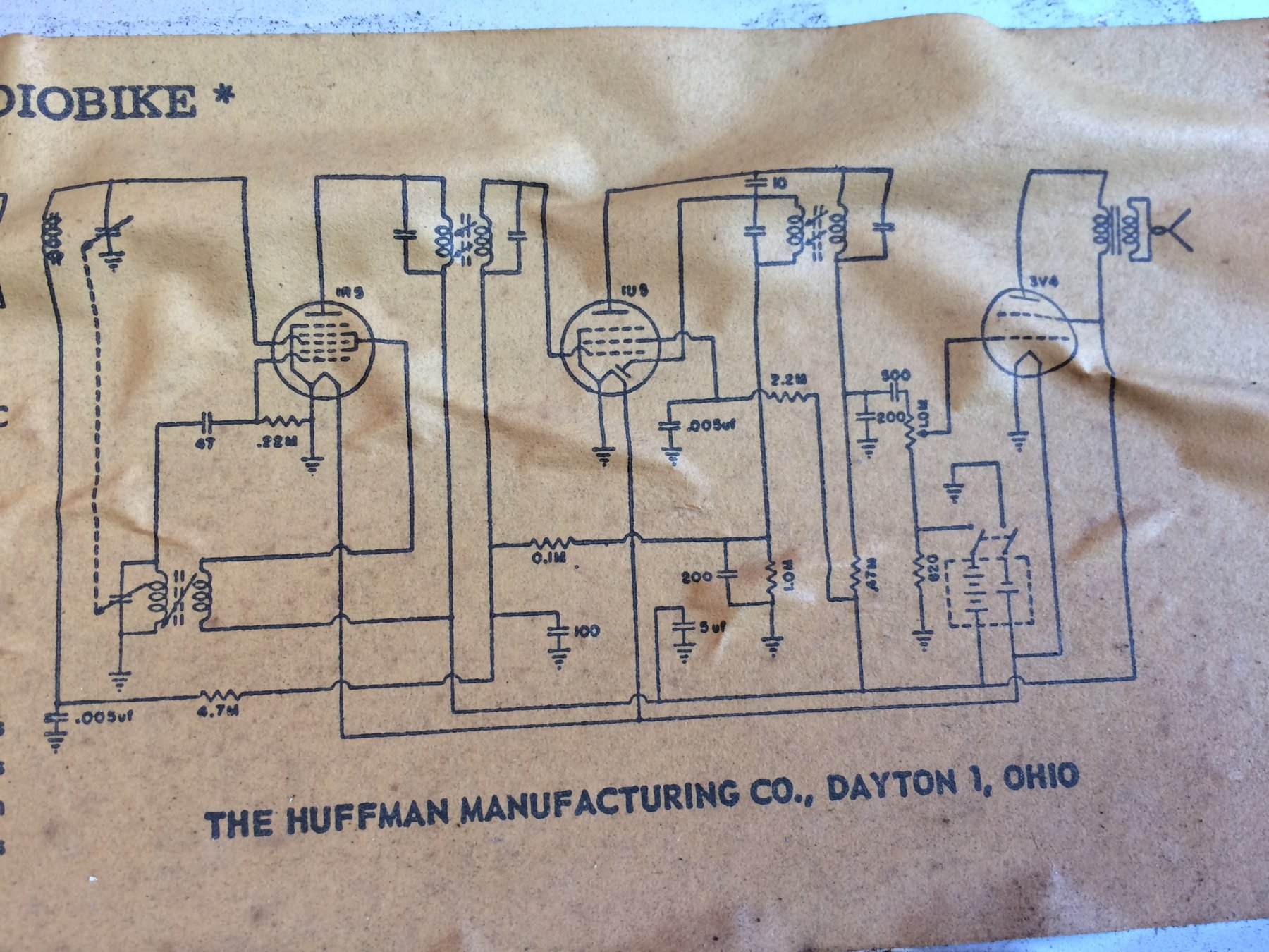 Paper Archive Catalogs Instructions Schematics Non Discussion Dayton Huffy Radiobike Tank Schematic