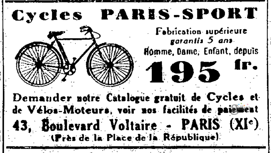 Paris-Sport advert of 1932  .png