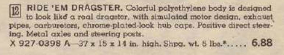 purple dragster 1966  JCPenney  book decription.JPG