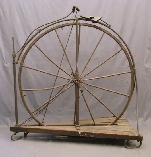 Rare C. 1870's Ice Velocipede. This rare possibly one of a kind bicycle was built for ice ridi...jpg
