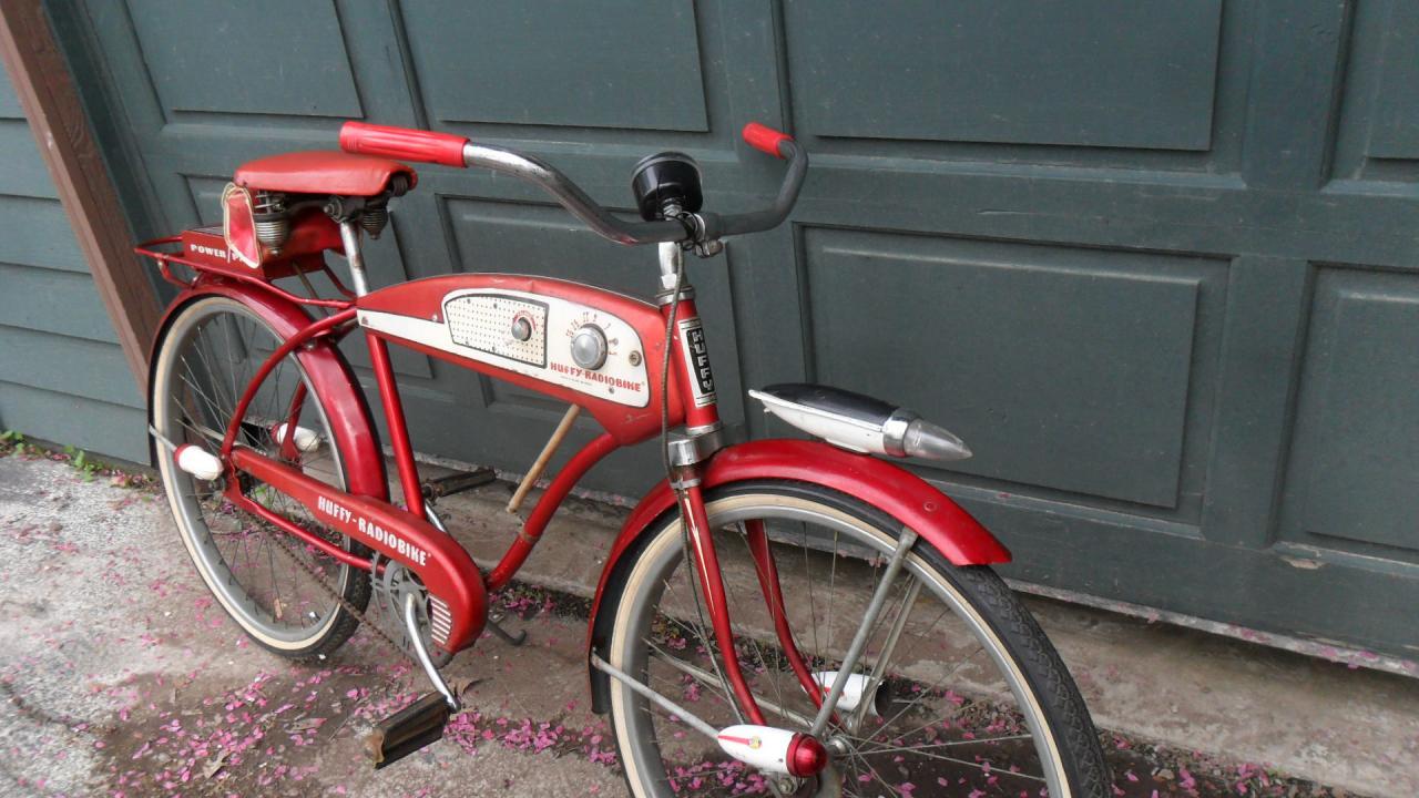 Original 1950 S Huffy Radio Bike Red For Sale The