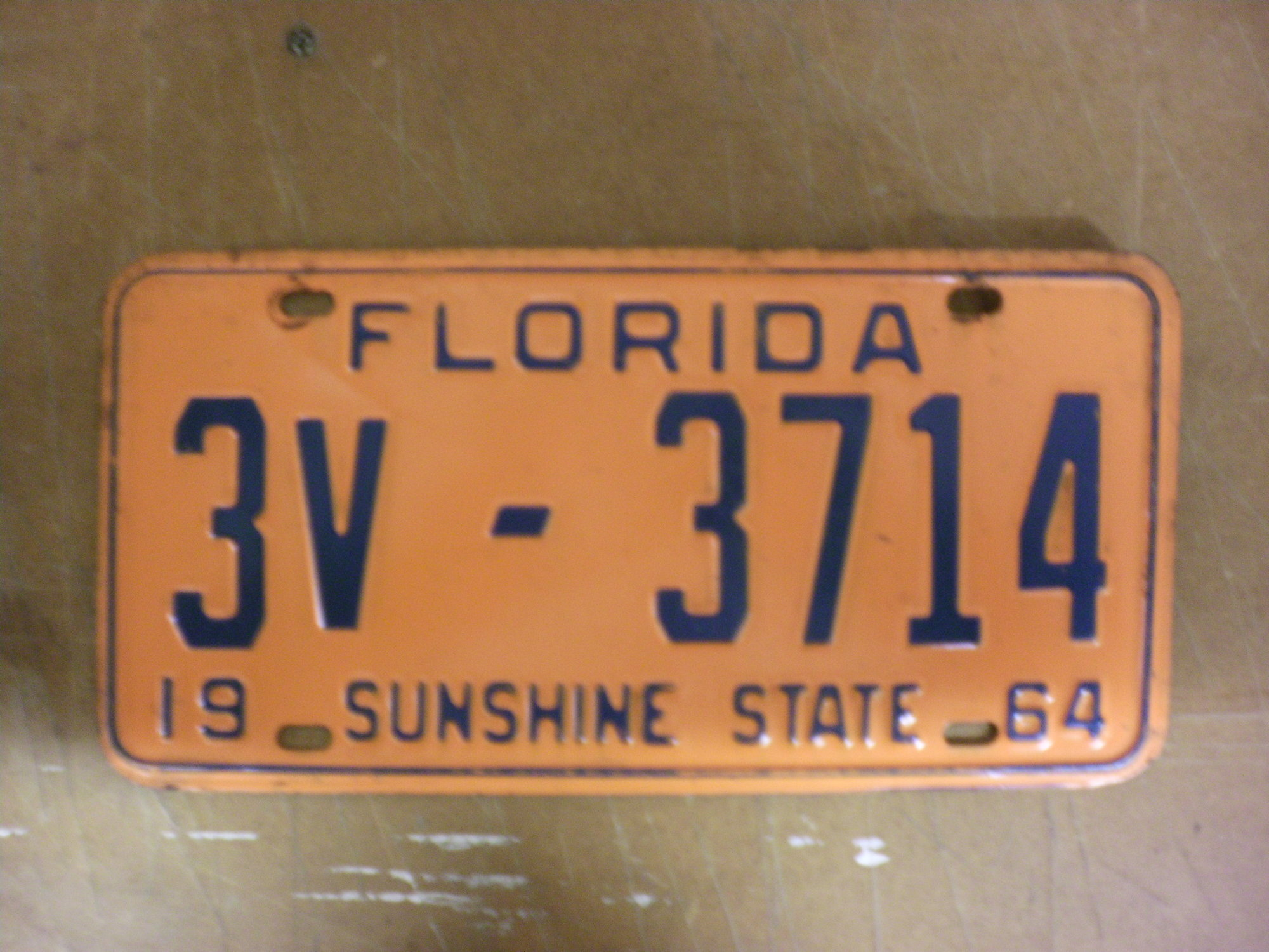 Real nice clean plate. I had it DMV cleared when I lived in Florida till 2 years ago. $15.00 shipped. PAYPAL as Friends and Family & Sold - 1964 FLORIDA CAR LICENSE PLATE | The Classic and Antique ...