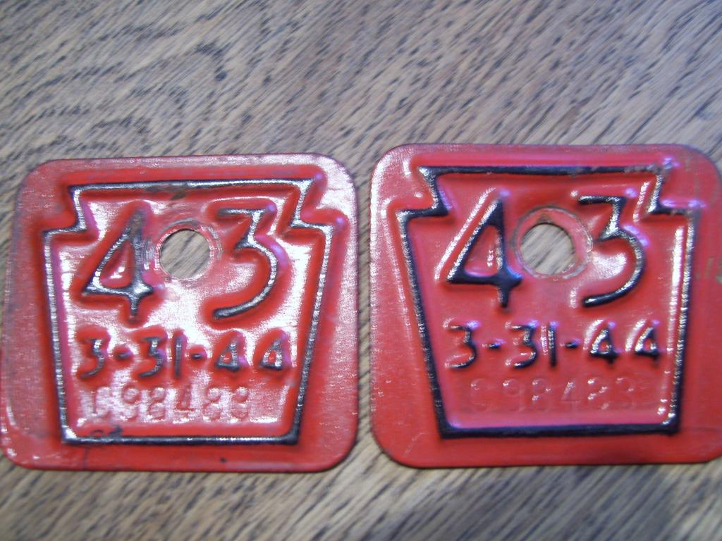 Vintage 2 Pennsylvania PA Registration Vehicle License Tags | The ...