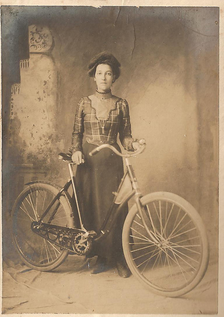 Vintage Photos of Ladies with Bicycles (11).jpg
