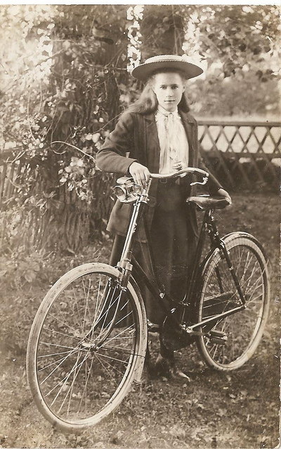 Vintage Photos of Ladies with Bicycles (5).jpg