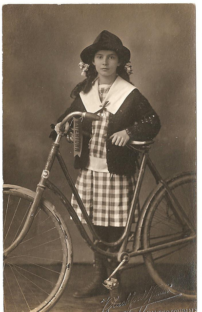 Vintage Photos of Ladies with Bicycles (7).jpg