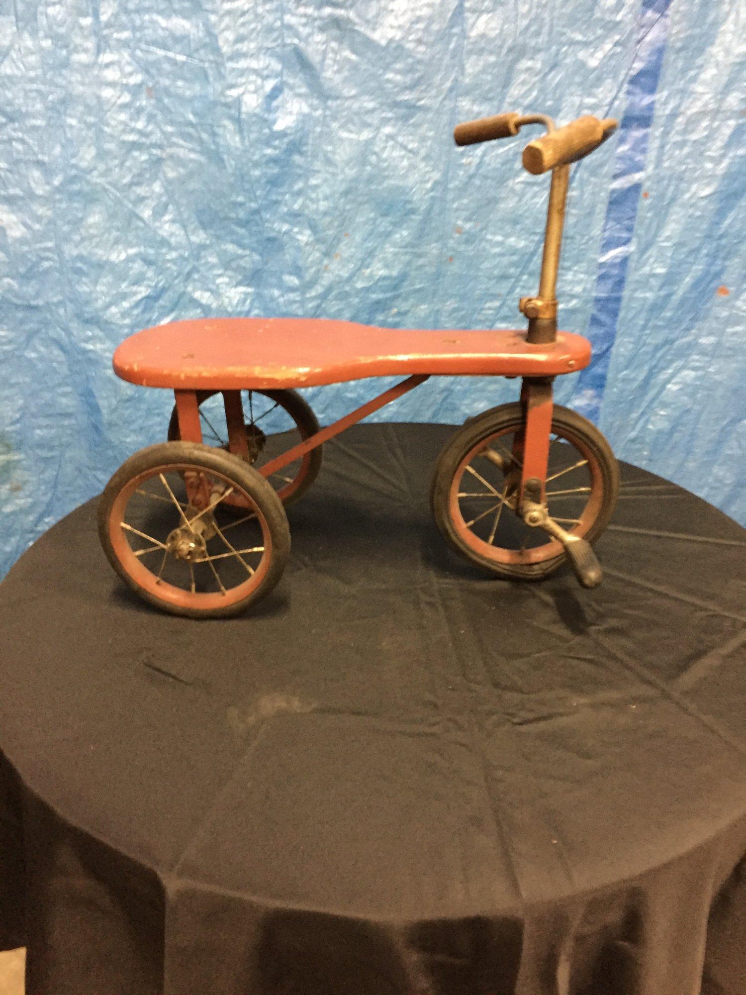 Vintage Wooden Seat,spoked wheel tricycle - $65.jpg