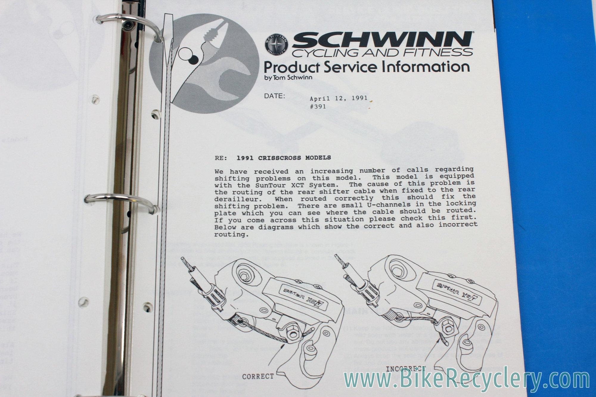 COMPLETE Schwinn Service Clinic Bulletin Set 1970-1980: 99