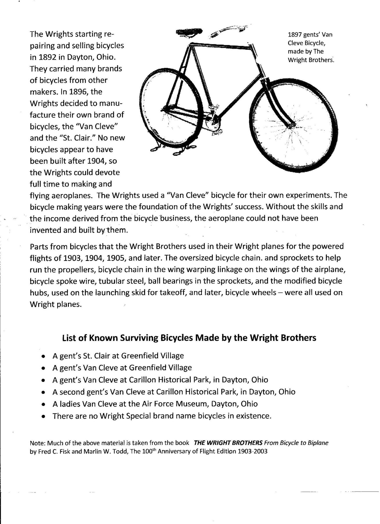 Wright Brothers Day The Classic And Antique Bicycle Exchange