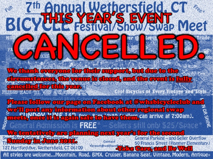 Wethersfield Bicycle Show and Swap Meet Cancelled .jpg