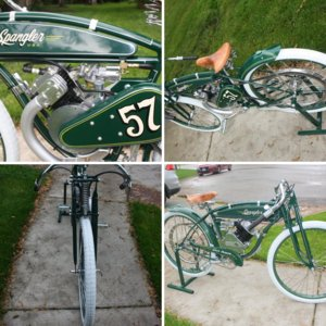 Whizzer made as a board track race. Green Dragon--one of three made.