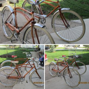Twin CCM Duomatic 2 speed 1967 coppertone bikes