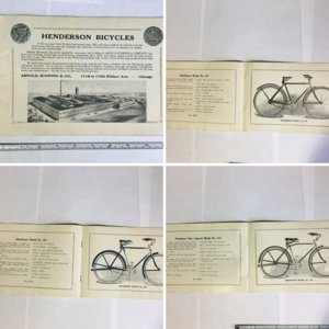 1916 Henderson Arnold Schwinn Bicycle Catalog