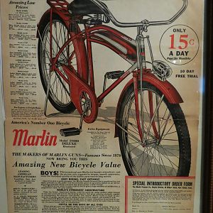 1937 Marlin Firearms Bicycle