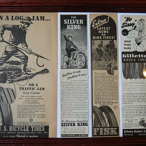 1937-1939 Bicycle Tire ads