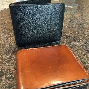 Sold! Grained Saddle billfold shipped today