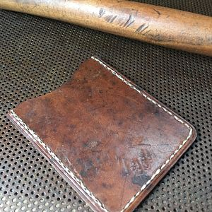 Sold! Front pocket wallet made from Swiss 1942 ammunition pouch