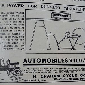 Power your electric train with a bicycle.
