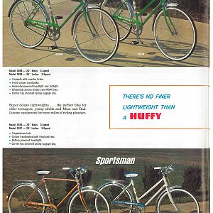 1966 Huffy Dealer Catalog Page 3