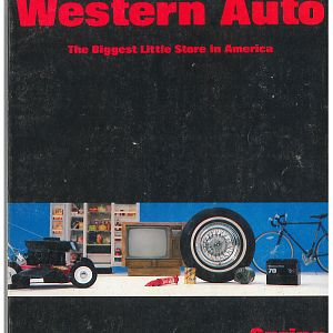 1983 Western Auto Catalog Front Cover